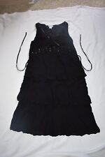 Motherhood Maternity Large Black Sleeveless Dress Clear Sequins C35 W34 OL42