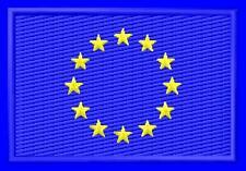 Flag EU European Union Drapeau ecusson brodé patche Thermocollant iron-on patch