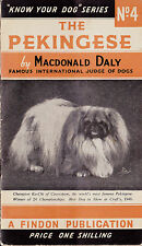 SCARCE PEKINGESE DOG BOOKLET MACDONALD DALY PEKINESE