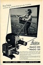 Leitz -- Prado 250 y Prado 150-sus fotos -- publicidad - 1952 -