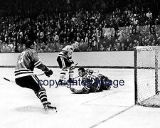 Denis DeJordy 1962-70 Blackhawks  vs Bruins  B+W 8x10 A
