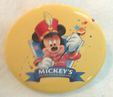 MICKEY'S HOMETOWN PARADE , MICKEY BAND LEADER 1998 WAL-MART CONTEST Button