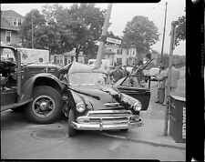 1951 Chevy Broadsided by a Mack truck Takes out Stoplight  8 x 10 Photograph