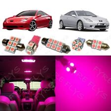 5x Pink LED lights interior package kit for 2000-2005 Toyota Celica TC6P