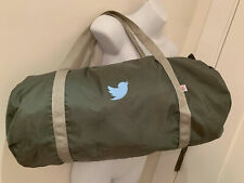twitter logo embroidered bird duffle bag carry on gym american apparel