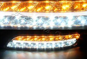For Porsche 911 997 Smoke Housing DRL 32 LED Turn Signal Parking Bumper Lights
