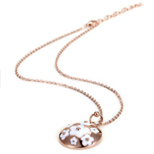 Female Gold Plated Fashion Necklace with Pendant