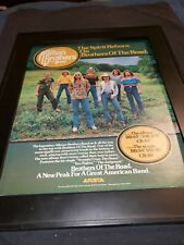 The Allman Brothers Band Brothers Of The Road Rare Promo Poster Ad Framed!