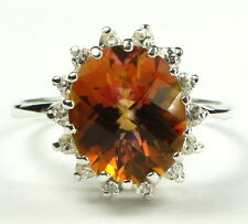 Twilight Fire Topaz, 925 Sterling Silver Ladies Ring, SR283-Handmade