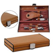 10 Pcs Manicure Set Deluxe Nail Clipper Scissor Tweezers Pusher Ear Pick Tool IB