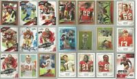San Francisco 49ers 21 card 2009 insert lot-all different