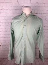 Pronto Uomo Men's Green Plaid Cotton Dress Shirt 15.5 34/35 $78