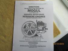1917 Ihc Mogul 1 - 2 1/2Hp Kerosene  00004000 Engine Instruction/Parts Info Manual