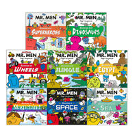 Mr. Men and Little Miss Adventures Superheroes Dinosaurs 8 Books Collection Set