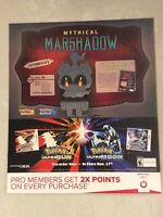 "Pokémon Sun & Moon Gamestop Promo Poster 24x28"" Game ART MARSHADOW Nintendo 3DS"
