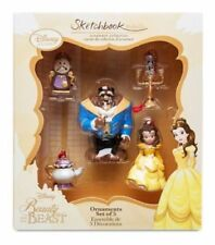 Disney Beauty And The Beast Set Of 5 Ornaments Tree Christmas Decoration Belle