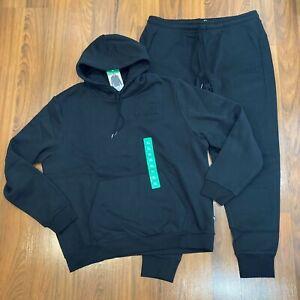 Puma Men's Hoodie Pants 2pc Set Size M, L, XL Tracksuit Black New