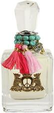 Peace Love & JUICY COUTURE Perfume Women 3.4 oz edp 3.3 Spray NEW with CHARMS