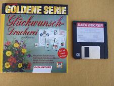 Data Becker - Glückwunschdruckerei - Erwien, Kipp .. - Buch und Diskette - 1994