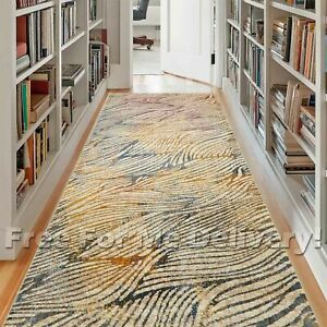 HERVEY PALM WAVES COLOURFUL MODERN FLOOR RUG RUNNER 80x300cm **FREE DELIVERY**
