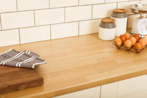 ALL SIZES 600x 30mm Butchers Block LAMINATE KITCHEN WORKTOPS