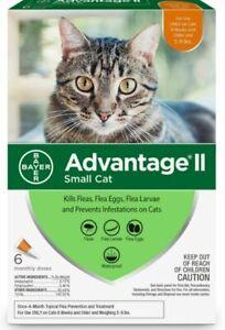 Bayer Advantage II Flea Treatment for Small Cats 5-9 Lbs - 6 Doses
