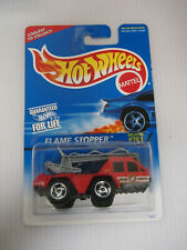 1996 HOT WHEELS BLUE CARD #761 RED FLAME STOPPER FIRE TRUCK HW