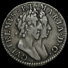 More details for 1689 william and mary early milled silver maundy threepence, vf #2