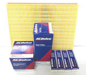 ACDelco Holden XC Barina 4cyl Service fliter Kit Oil Air Fuel Filter Spark Plugs