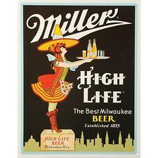 Miller Server Vintage Retro Tin Metal Sign 11 x 16in