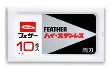10 pz. Feather fh-10 DOUBLE bordo Lamette per rasoio di Sicurezza MADE IN JAPAN