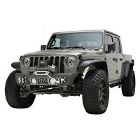 Rock Crawler Front Bumper Stubby with Winch Plate Fit for 2020 Jeep JT Gladiator