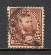Scott # 223, Used, VF, 5¢ Grant, 1890, Hand-Stamped CDS Cancel