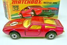 "MATCHBOX sf Nº 32b Maserati Bora"" 3"" autocollant 5 Arch roues top dans Box"