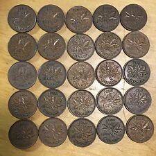 Vintage Canada Small Cents, lot of 50 (Lot 27)