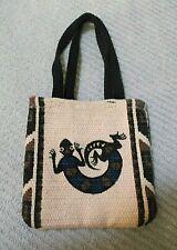 """El Paso Saddle Blanket Co. Southwest Lizard Tapestry Tote Bag 5"""" Nos"""