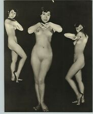 1955 John Everard Asian 3 Views Japanese Nude Female Breasts Photo Gravure