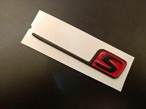 New for Mercedes AMG S Letter Trunk Emblem Chrome Badge Sticker C63S  G63S Red