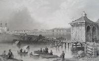 CANADA St. John on Richlieu River - BARTLETT Antique Print