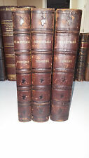 Shakespeare Complete Works in 3 vol's 1861 -Comedies-Histories-Tragedies Leather