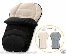 NEW HAUCK Official 2 Way Reversible Fleeced Cosytoes Footmuff  BLACK/cream/grey
