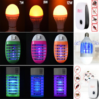 Newly LED Socket Electric Mosquito Fly Bug Insect Trap Night Lamp Killer Zapper