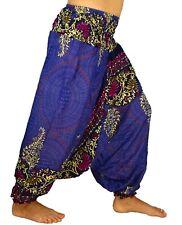 Sarouel Femme Pantalon Ethnique Aladin Harem Pant Aladdin yoga  bleu