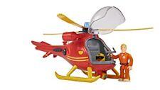 Simba 109251661 Hélicoptère avec Figurine de le Pompier