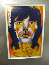 IAN BROWN golden greats PROMO POSTER STONE ROSES autographed rare! SIGNED!