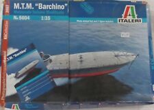 "NEW-M.T.M. ""BARCHINO""-ITALERI 5604-SCALE1/35-17.5CMS-ARTWORK+1FIG-10YR+FREE POST"