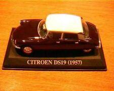 CITROEN DS 19 DE 1957 MARRON 1/43 AVEC TOIT BLANC IXO ALTAYA WHITE ROOF