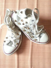 converse chuck taylor all star gold spike stud street style fashion youth shoe