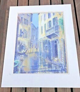 basil e.pursall ( large pastel ) venice scene ! ( signed )
