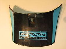 Helmschirm schwarz, Twinshock, Enduro, Cross, MX, Classic, Vintage, Oldtimer